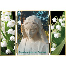 The Virgin at the lily of the valley
