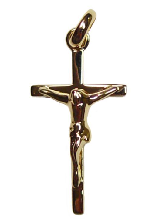 Croix pendentif plaqué or