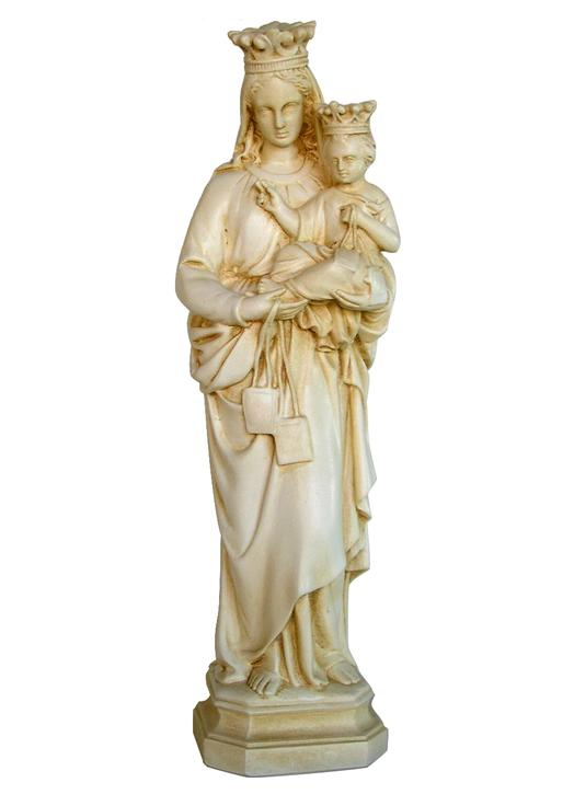 Our Lady of Mount Carmel - 34 cm (Vue de face)