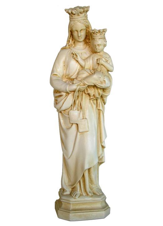 Statue de Notre-Dame du Mont-Carmel, 34 cm (Vue de face)