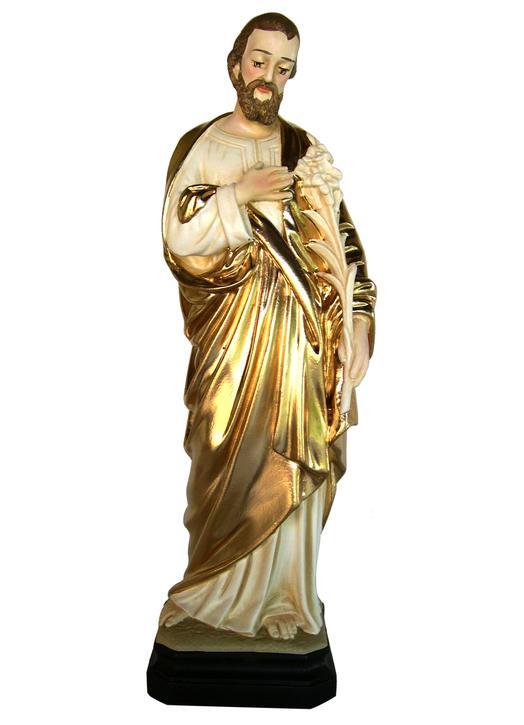 Statue de saint Joseph au lys, 32 cm (Vue de face)