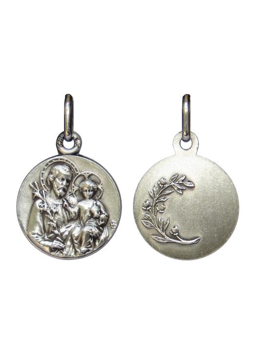 Saint Joseph medal silver plated - 16 mm