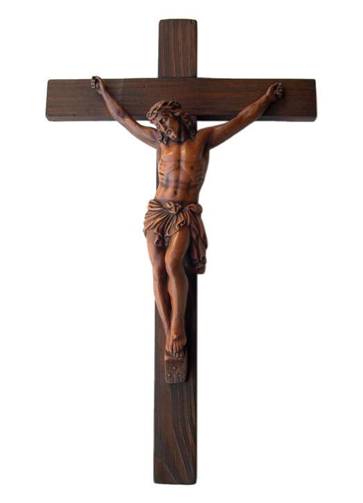 Crucifix mural, 38 cm (Vue de face)