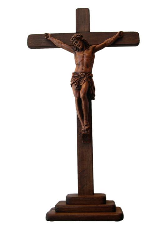 Crucifijo sobre zócalo, 50 cm (Vue générale)