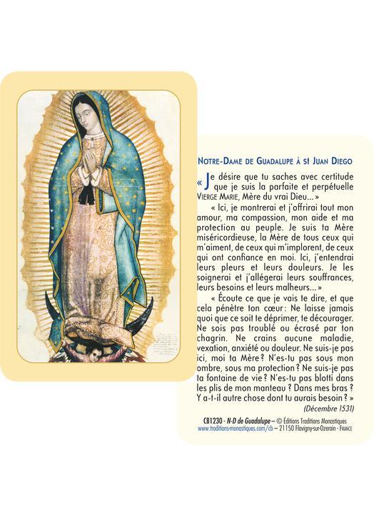 Notre-Dame de Guadalupe (Reco-verso)