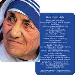 Carte prière Bse Mère Térésa de Calcuta (Recto-verso)