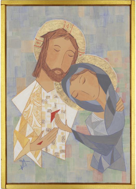 Marie and resurrected Jesus