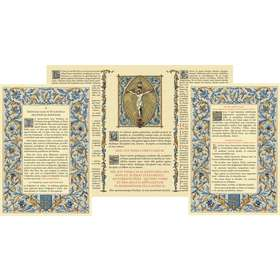 "cánones de altar ""Azul"" sin moldura (Canons au format A4)"