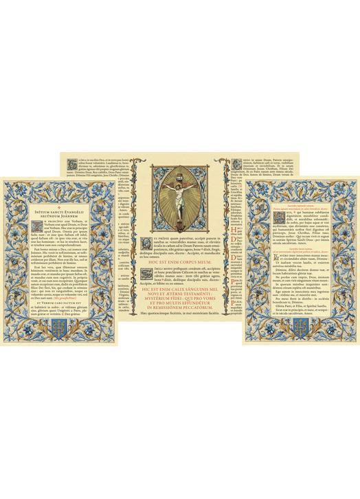 """Canon d'autel """"Azur"""" sans moulure au format A4 (Canons au format A4)"""