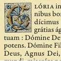 """Canon d'autel """"Azur"""" sans moulure au format A4 (Lettrine du Gloria)"""