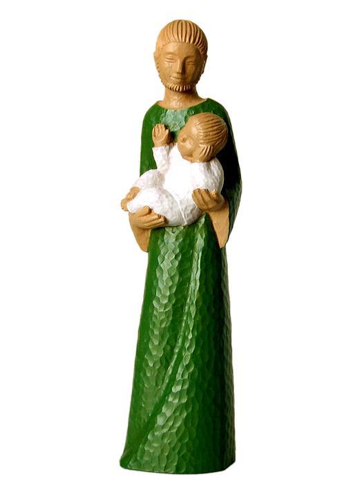 Statue of Saint Joseph, 30 cm (Vue de face)