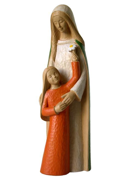Statue de sainte Anne et la Vierge Marie, 35 cm