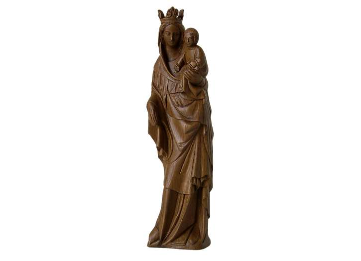 Statue of the crowned Virgin Mary, 44 cm (Vue de face)