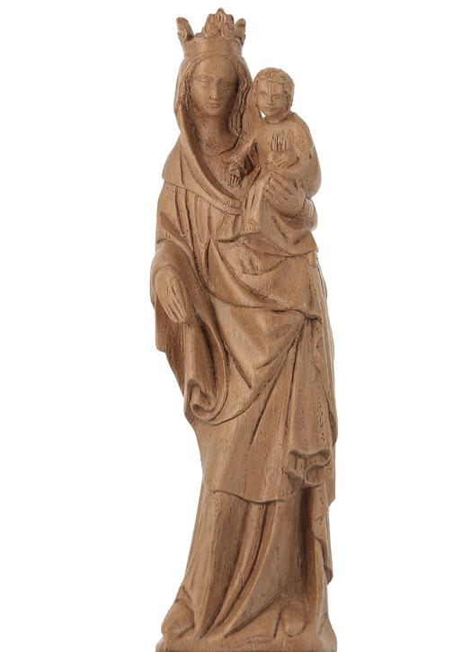 Statue of the crowned Virgin Mary, 17 cm (Vue de face)