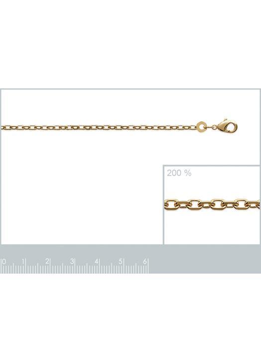 Chaîne de type maille forçat en plaqué or, 50 cm