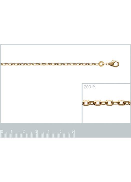 "Chain  with link ""convict"", gold plated metal - 50 cm"
