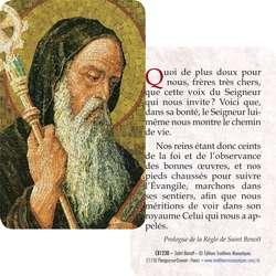 Carte-prière Saint Benoît (Recto-Verso)