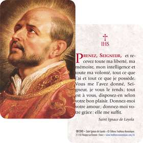 Card-prayer of Saint Ignatius of Loyola (Recto-Verso)