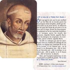 Carte-prière Saint Bernard (Recto-Verso)