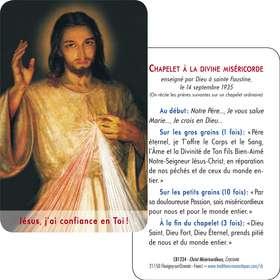 Tarjeta-rezo del Cristo Misericordioso del Cracovie (detalle) (Recto-Verso)