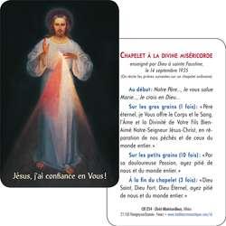 Tarjeta-rezo del Cristo Misericordioso del Vilnus