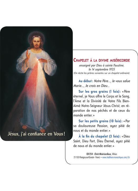 Card-prayer of Merciful Christ of Vilnus (Recto-Verso)
