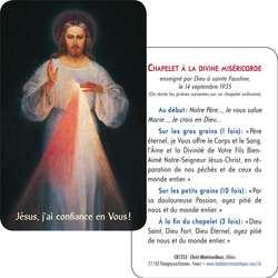 Tarjeta-rezo del Cristo Misericordioso del Vilnus (detalle)