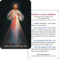 Card-prayer of Merciful Christ of Vilnus (Recto-Verso)