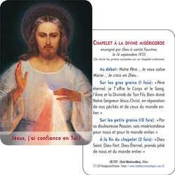 Tarjeta-rezo del Cristo Misericordioso del Vilnus (detalle) (Recto-Verso)
