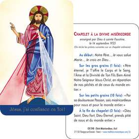 Card-prayer of Merciful Christ of Madi (Recto-Verso)