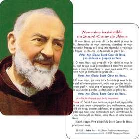 Carte-prière du Padre Pio (Recto-Verso)