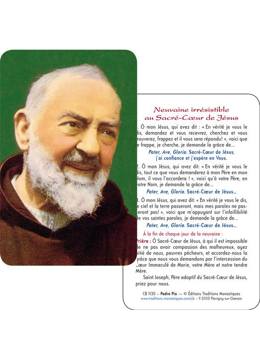 Card-prayer of Padre Pio (Recto-Verso)