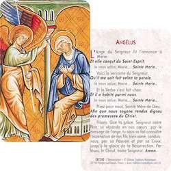 Carte-prière de l'Annonciation (Recto-Verso)