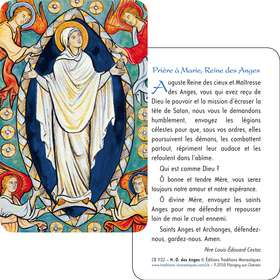 Carte-prière de L'Assomption (Recto-Verso)