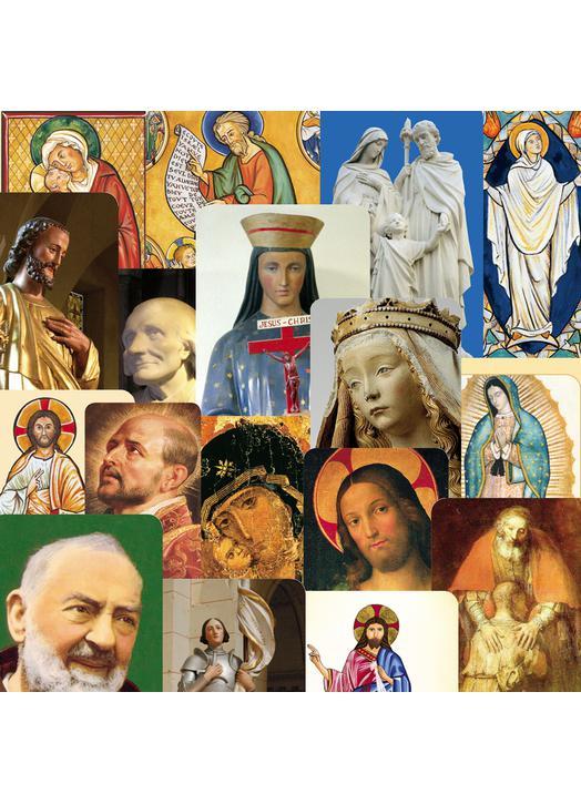 Lot panaché de 25 modèles de cartes-prières