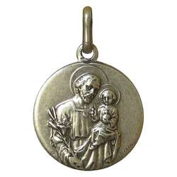 Saint Joseph medal, metal - 18 mm