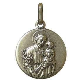 Medalla de San José, plateado - 18 mm