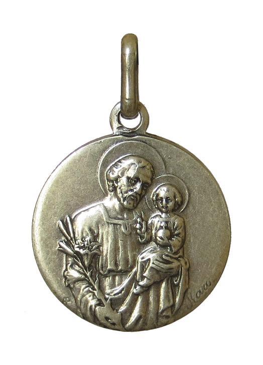 Saint Joseph medal, metal - 18 mm