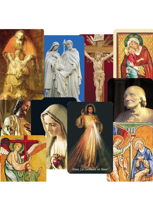 Lot panaché de 10 modèles de cartes-prières