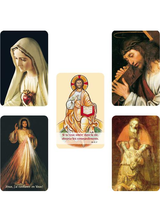 Lot panaché de 5 modèles de cartes-prières