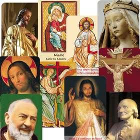Lot de 10 modèles de carte-prières Série B