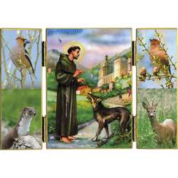 Saint Francis and the wolf of Gubbio