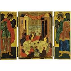 La Sainte Cène avec deux archanges