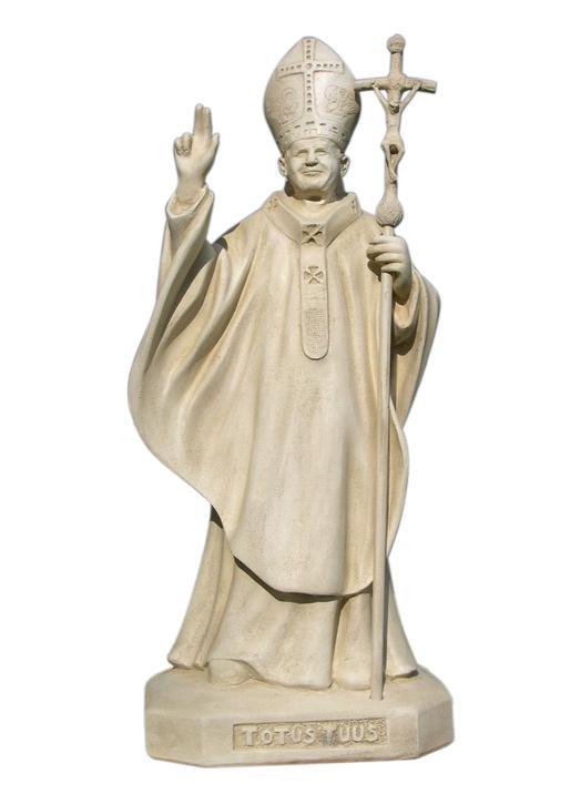 Statue de Jean-Paul II, pasteur - 85 cm (Vue de face)