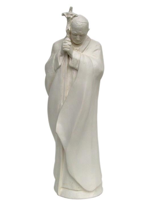 Statue de Jean-Paul II, homme de prière - 22 cm (Vue de face)