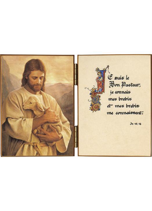 El Buen Pastor y cita de San Juan