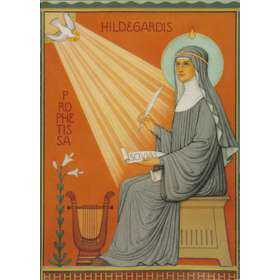 Icon of saint Hildegarde de Bingen