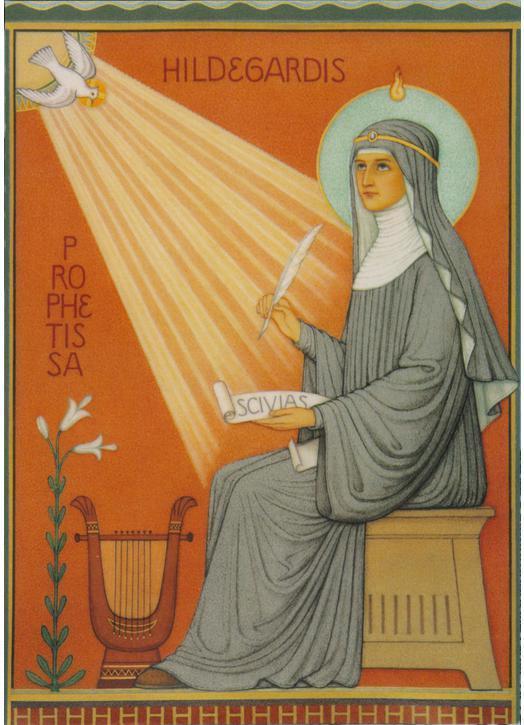 Icono de santa Hildegarde de Bingen