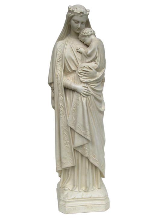 Statue de Notre-Dame de la Sagesse, 42 cm (Vue de face)