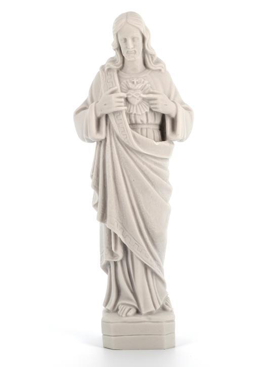 El Sagrado Corazón de Jesús, mármol reconstituido, 27,5 cm (Vue de face)